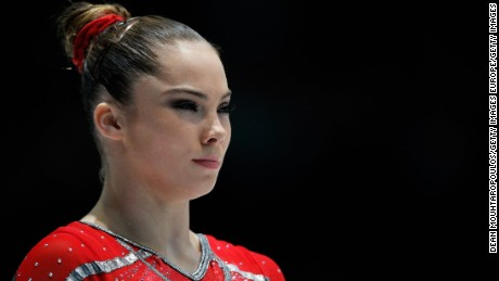 ANTWERPEN, BELGIUM - OCTOBER 02:  McKayla Maroney of USA gets ready to compete in the Womens Vault Qualification on  Day Three of the Artistic Gymnastics World Championships Belgium 2013 held at the Antwerp Sports Palace on October 2, 2013 in Antwerpen, Belgium.  (Photo by Dean Mouhtaropoulos/Getty Images)