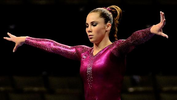 McKayla Maroney during practice before the start of day 4 of the 2012 U.S. Olympic Gymnastics Team Trials at HP Pavilion on July 1, 2012 in San Jose, California.