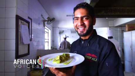 African Voices Kenya's award-winning celebrity chef Ali Mandhry B_00001908