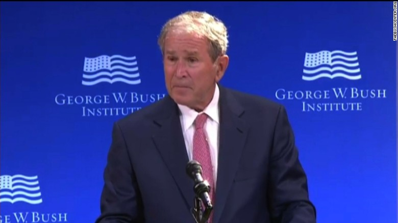 George W. Bush: White supremacy is blasphemy