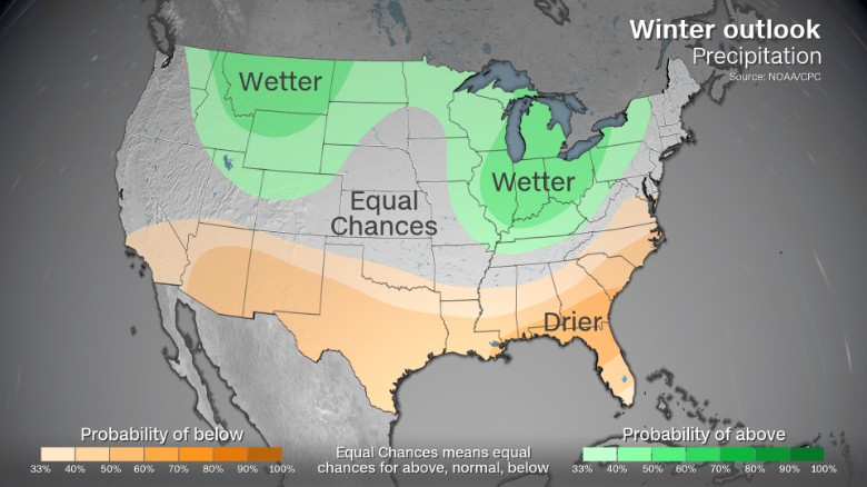 Winter 2017 2018 noaa forecasts warmer winter cnn you may want to get a waterproof jacket this season if you live in the northern rockies or midwest the cpc is forecasting above average precipitation in gumiabroncs Images