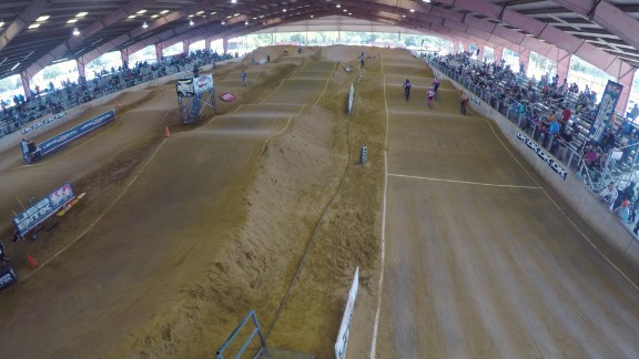 The DeSoto course, built in 2000, is a 1,000-foot dirt snake of jumps, straightaways and banked turns. It's designed to be challenging and fun, but also fast.