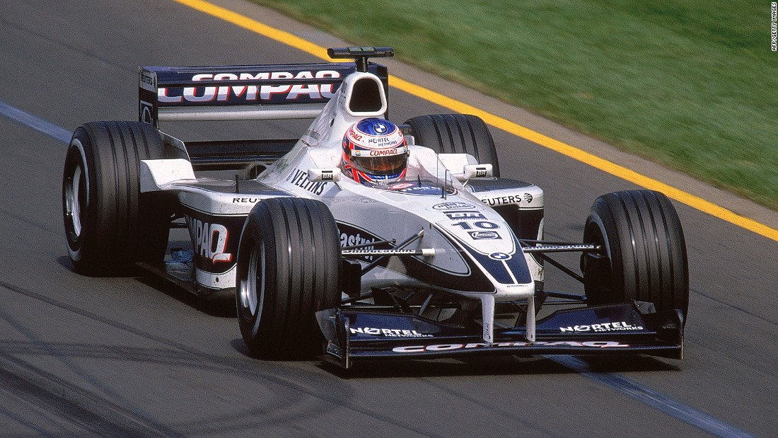 The Briton made his F1 debut for Williams Racing back in 2000 (pictured) before retiring from full-time racing in 2016.