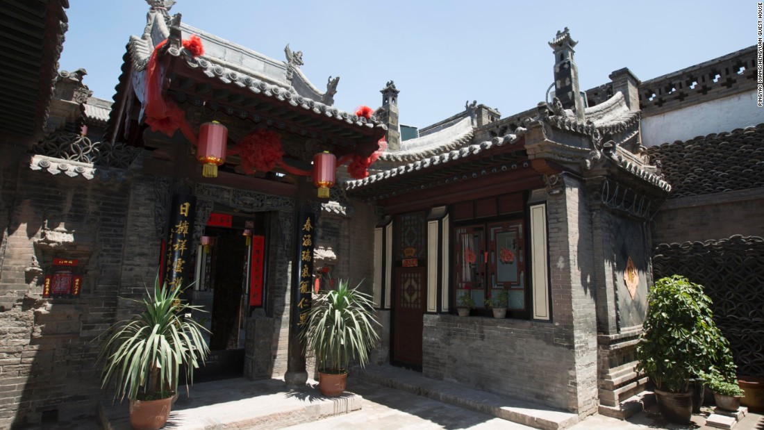 This guest house in Pingyao was converted from a historic courtyard home.