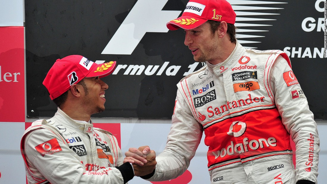 "Button switched to McLaren in 2010, partnering Lewis Hamilton who he shared a fierce rivalry. ""We were both world champions -- the last two world champions, we are in the same team, and it was a British team,"" Button told CNN World Sport. ""You want to beat your teammate, he's the first guy you have to beat in this sport."""
