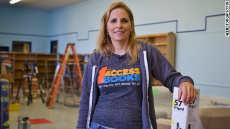 CNN Hero Rebecca Constantino builds libraries in underserved communities with donated books and paint.