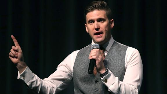 White nationalist Richard Spencer faced a vocal outcry at his speech on Thursday.