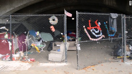 Caitlyn lives under a bridge near the Massachusetts-New Hampshire border.
