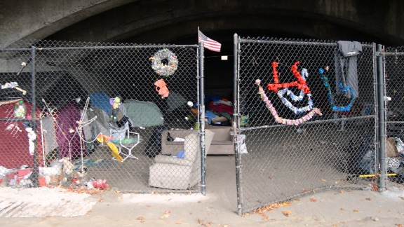 Caitlyn lives under a bridge near the Massachusetts-New Hampshire border.