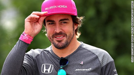 Fernando Alonso of Spain and McLaren Honda walks in the Paddock during previews ahead of the US Formula One Grand Prix at the Circuit of The Americas on October 19, 2017.