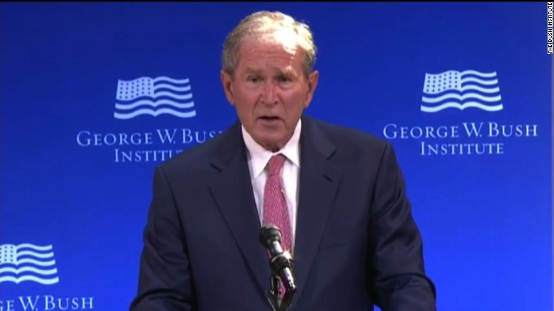 Bush: Politics 'degraded by casual cruelty'