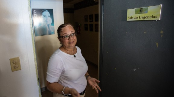 Dr. Rosita Arzuaga is still seeing patients in the dark.