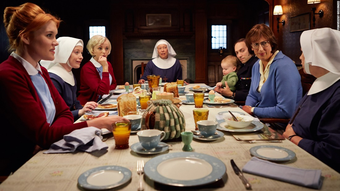 "Period drama ""Call the Midwife"" chronicles the lives of a group of nuns and midwives in London's impoverished East End in the 1950s and 60s.<br /><br />Loosely based on the memoirs of a real midwife, the series is shaped by the events and social issues of the time, including the post-war baby boom and the introduction of the contraceptive pill.<br /><br />First broadcast in 2012, ""Call the Midwife"" had reached viewers in nearly 200 territories in its first two years.<br />"