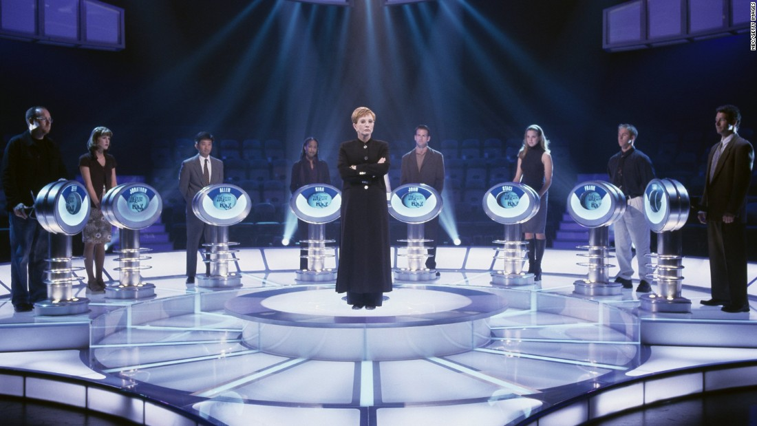 "Quiz show ""The Weakest Link"" sees a team of contestants answering general knowledge questions for money. At the end of each round contestants vote out the weakest team member, and host Anne Robinson utters the catchphrase, ""You are the weakest link, goodbye.""<br /><br />The original British version broadcast in the UK from 2000 to 2012, and the format sold to just under 100 countries. <br />"