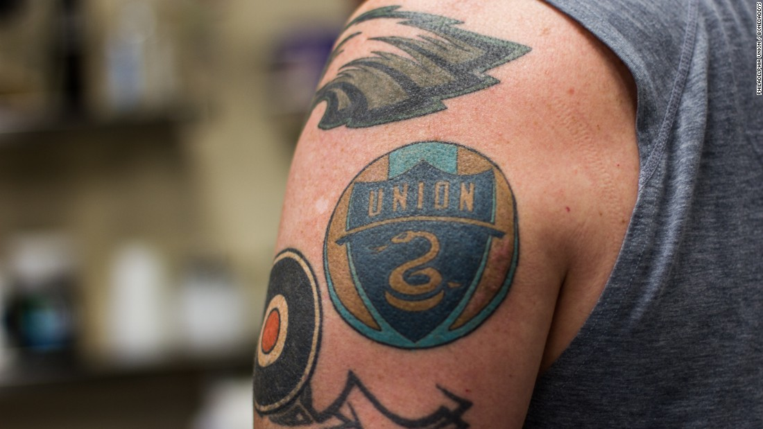 Is this sport 39 s first chief tattoo officer cnn video for Philly sports tattoo