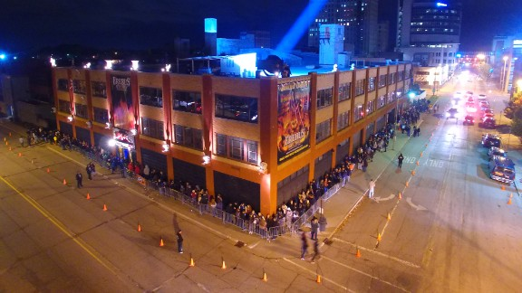 """Erebus (Pontiac, Michigan): Customers line up around the block to get their thrill on. The Erebus website says """"we've seen 25-year-olds wet themselves and faint."""""""