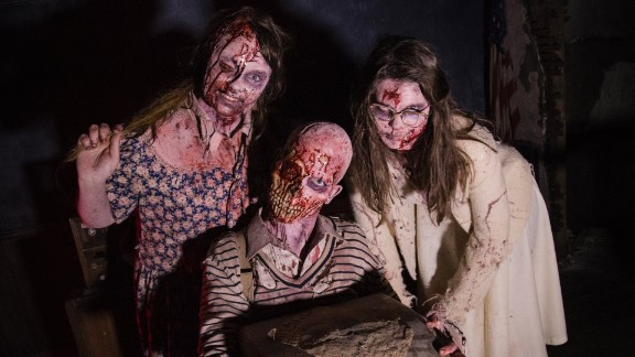 """The Dent Schoolhouse (Cincinnati): This trio gives new meaning to the term """"student body.""""  Dent Schoolhouse also offers a """"Lights Out"""" experience and a Christmas straight out of your nightmares."""