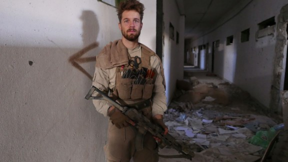 24-year-old John is an American fighter with US-backed SDF -- part of the offensive on Raqqa.