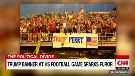 Trump banner at HS football game sparks furor_00002728