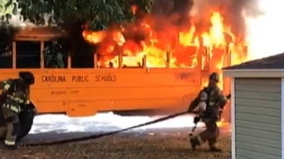 school bus fire