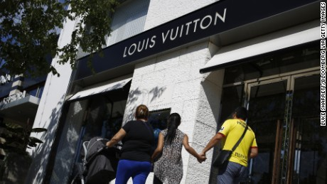 This Louis Vuitton store in Columbus, Ohio, was the scene of a pre-dawn smash-and-grab this week.