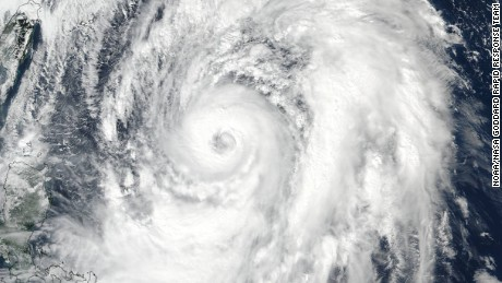NASA-NOAA's Suomi NPP satellite took a visible light picture of Typhoon Lan on October 20 at 12:30 a.m. EDT (0430 UTC) and saw a clear eye in the powerful hurricane.