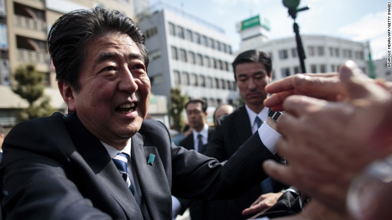 Japan's Abe poised for landslide victory