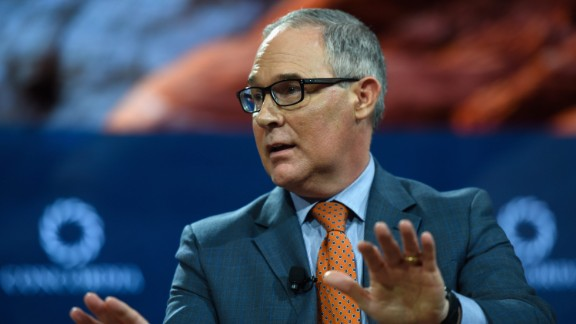 Scott Pruitt, administrator of U.S. EPA speaks at The 2017 Concordia Annual Summit at Grand Hyatt New York on September 19, 2017 in New York City.
