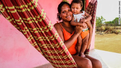 Cryslane was 21 when she gave birth to Hiago in Santana do Ipanema, but she told Diniz she still wasn't prepared for the stress of caring for a Zika-affected child.