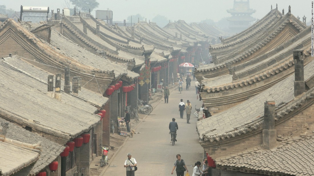 The ancient houses in Pingyao date as far back as the Ming dynasty (1368 to 1644).