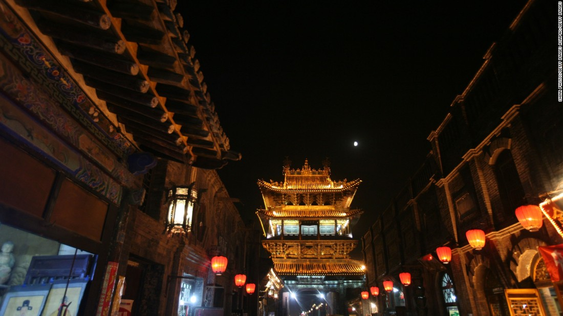 At night the old streets of Pingyao are illuminated by colorful lanterns.