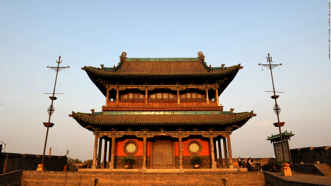 Pingyao's city wall has six gates and 72 watchtowers.
