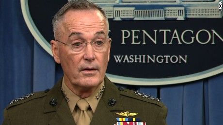 Joint Chiefs chair says soldiers will not be involved in denying border entry to migrants