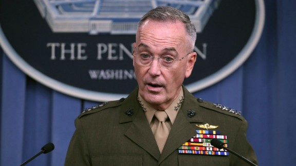 Gen. Joseph Dunford, chairman of the Joint Chiefs of Staff, briefs the media at the Pentagon on October 23, 2017 in Arlington, VA. (Mark Wilson/Getty Images)