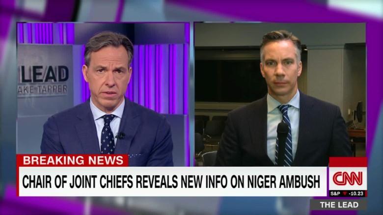 Joint Chiefs Chair clarifies Niger ambush timeline