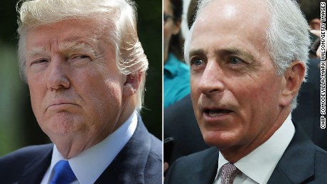 Republican Sen. Bob Corker blasts Trump for pressuring DOJ