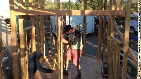 Contractor building three tiny homes to help California wildfire victims