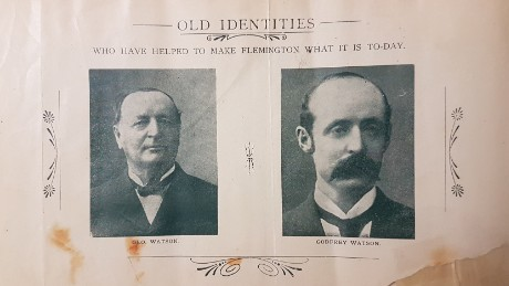 George Watson (left) died in 1906 and his son Godfrey Watson (right) replaced him as starter