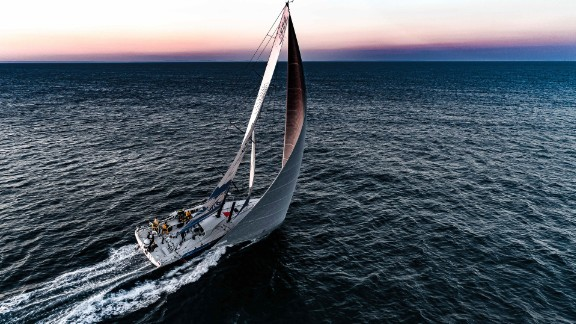 Caffari is the first woman to have sailed single-handed around the world non stop and in both directions.