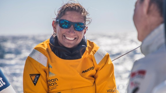 Briton Dee Caffari skippers the Turn the Tide on Plastic team, which aims to campaign for a reduction in the amount of plastic dumped in our oceans.