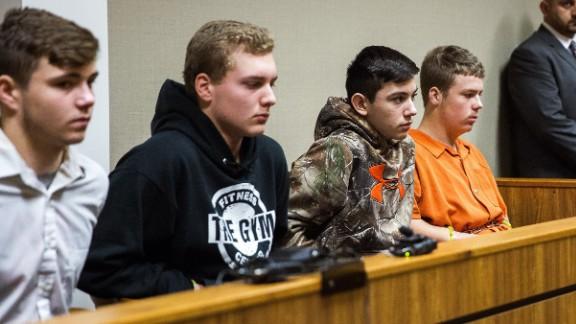 From left, Trevor Gray, Alexzander Miller, Mikadyn Payne and Kyle Anger.
