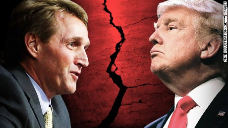 Jeff Flake just flew a kamikaze mission against Donald Trump