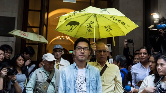 Pro-democracy activist Nathan Law leaves Hong Kong