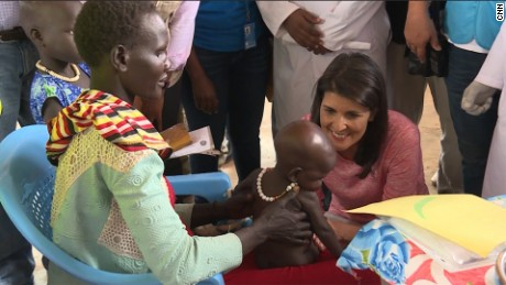 Nikki Haley issues stern warning in South Sudan
