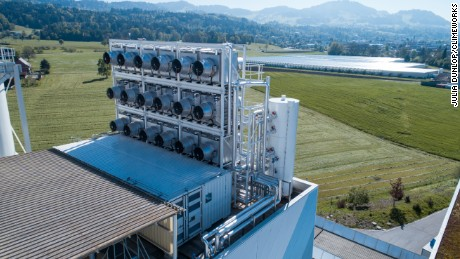 The world's first direct air capture plant opened in Switzerland in May.