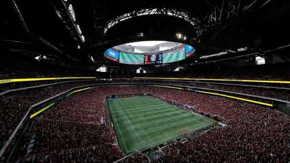 Mercedes-Benz Stadium in Atlanta, GA