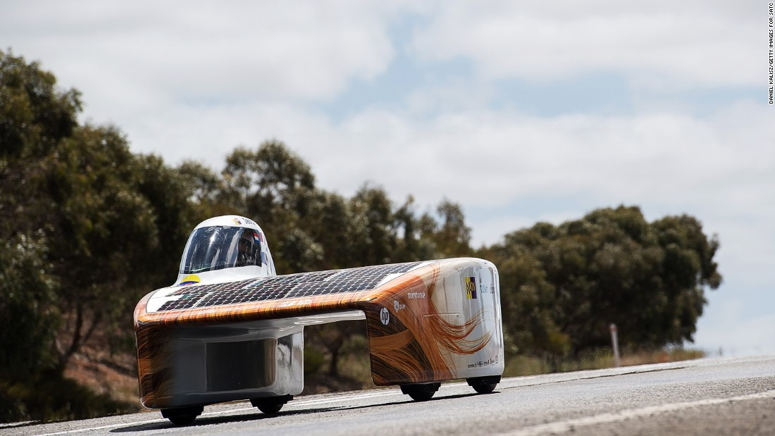 While you won't find many commercial solar cars on the road, people have been building their own models -- and racing them -- since 1987.<br /><br />Teams from across the globe compete in the World Solar Challenge - a 3,000 km solar-powered vehicle race between Darwin and Adelaide. <br /><br />A Dutch car, Nuna 9, (pictured) won the race this year, traveling at an average speed of 81.2kmh.