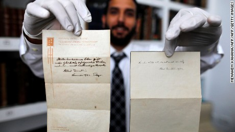 Einstein's handwritten notes sell for $1.8M