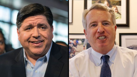 J.B. Pritzker and Chris Kennedy