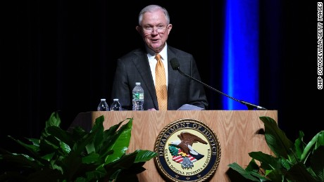 WASHINGTON, DC - OCTOBER 25:  U.S. Attorney General Jeff Sessions delivers remarks at the 65th Annual Attorney General's Awards Ceremony at the Daughters of the American Revolution Constitution Hall October 25, 2017 in Washington, DC. (Chip Somodevilla/Getty Images)